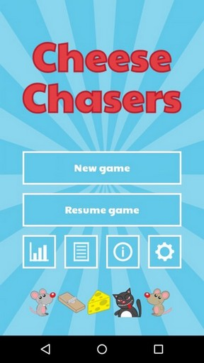 Cheese Chasers - main menu