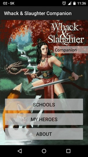 Whack & Slaughter Companion - main menu